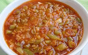 Taze Fasulyeli Bulgur Çorbası