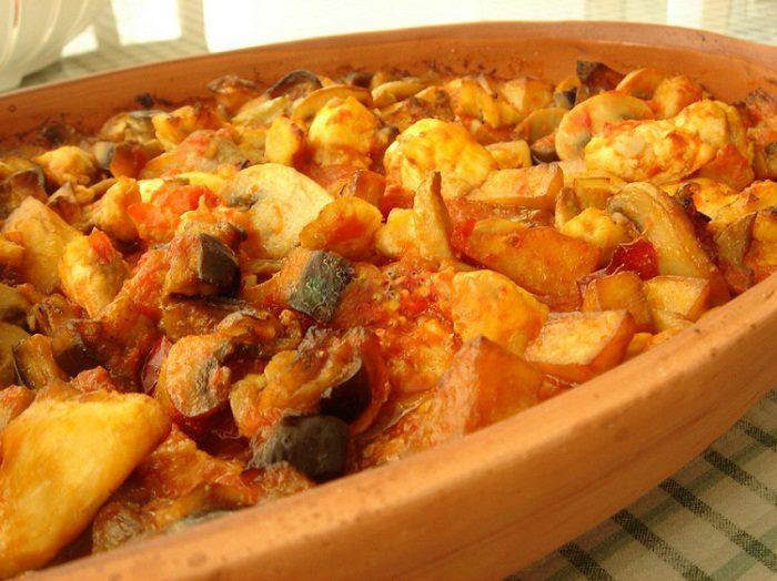 Fırında Tavuk Mantar Patates
