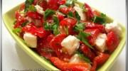 Peynirli Közlenmiş Biber Salatasi