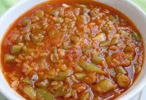 Taze Fasülyeli Bulgurlu Çorba