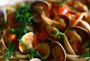 Kum Midyeli Spaghetti